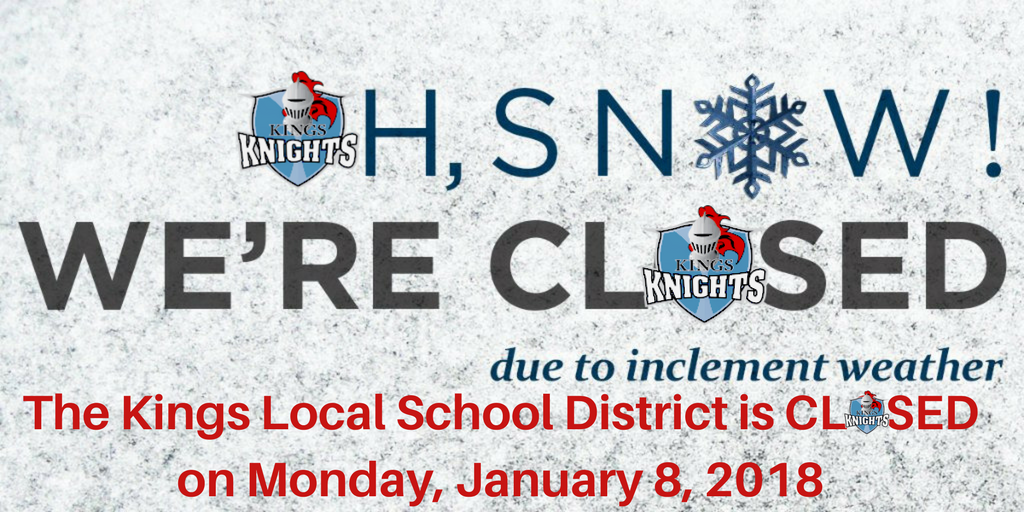 School Closed 1/8/2018